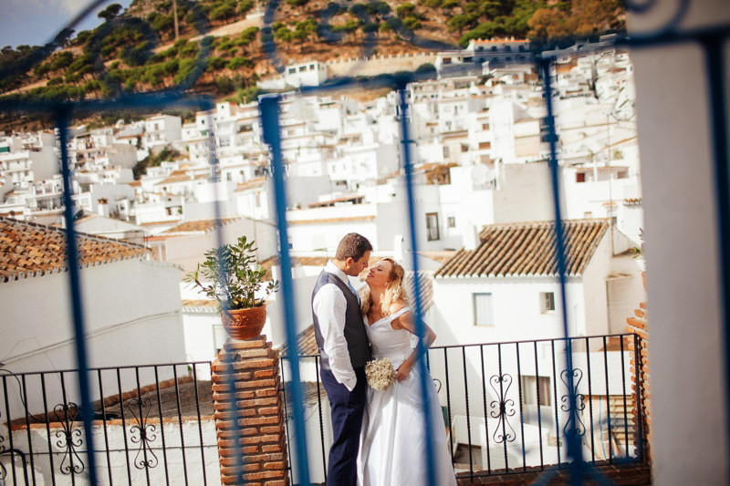 Destination wedding pueblo de mijas Andalusia